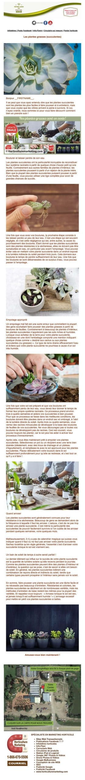 Infolettre horticole